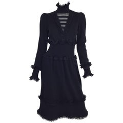 Chanel Black Cashmere Dress 2006 A