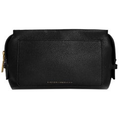 Victoria Beckham Black Leather Cosmetic Bag with Dust Bag