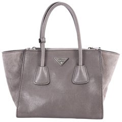 Prada Twin Pocket Tote Glace Calf Small