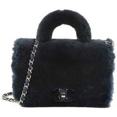 Chanel Paris Cosmopolite Top Handle Bag Fur Small