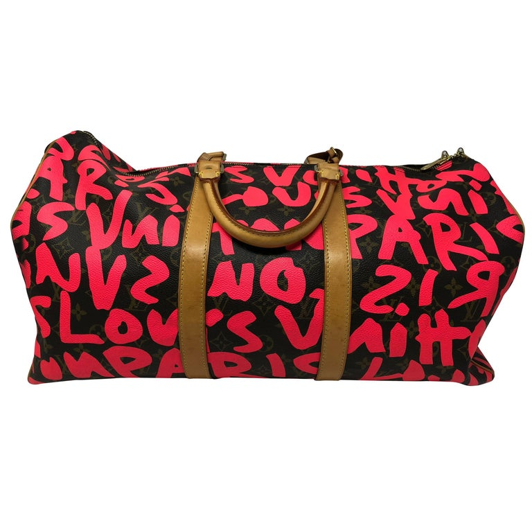 Louis Vuitton Hand-painted $weet Tooth Keepall Bandouliere 55 0oMP8jZra