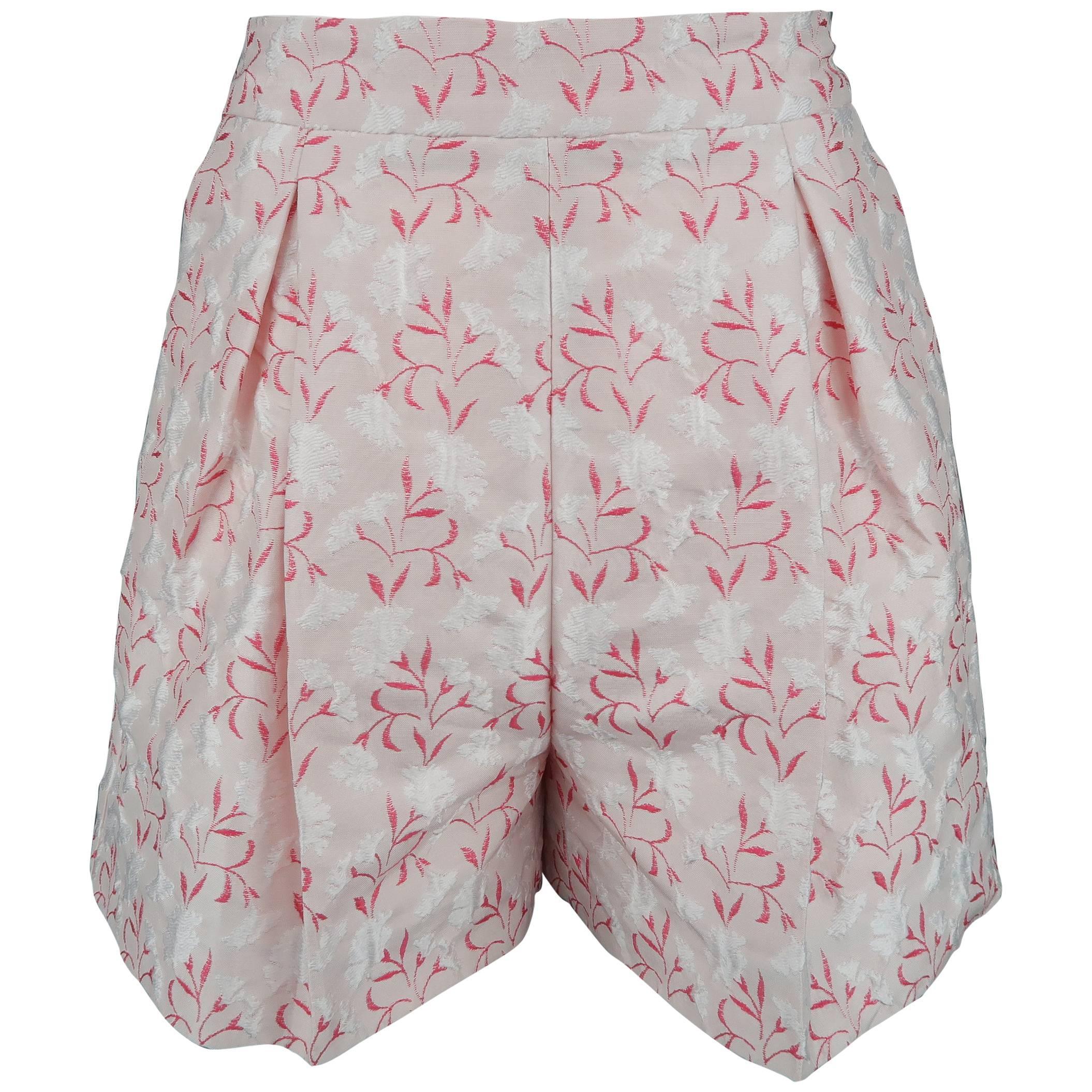 f0aab1e8e73e GIAMBATTISTA VALLI Size 9 Pink Leather Lace Up Peep Toe Sandals For Sale at  1stdibs