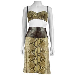 Dolce Gabbana Python skin skirt and bra