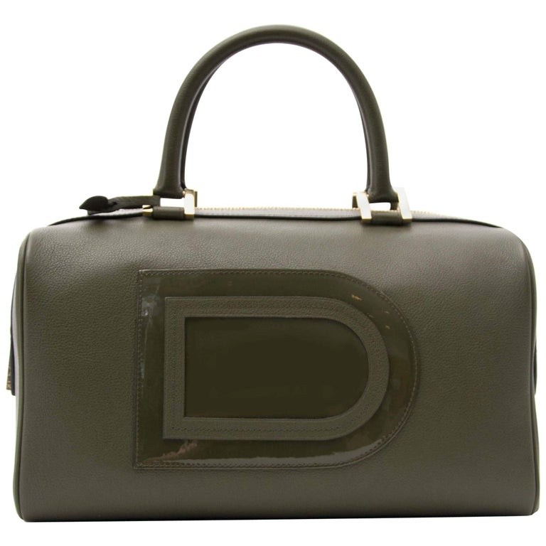 Delvaux Louise Boston Allure Olive Green handbag For Sale