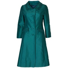 Vintage Teal Coloured Coat