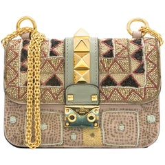 Valentino Pattern Small Chain Embellished Cross Body Bag