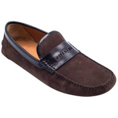 Givenchy Men's Brown Suede Penny Loafers