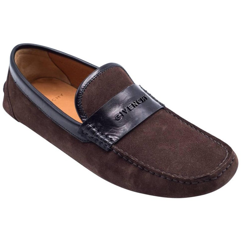 61575a29922 Givenchy Men s Brown Suede Penny Loafers For Sale at 1stdibs