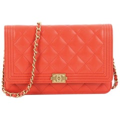 Chanel Boy Wallet on Chain Quilted Lambskin