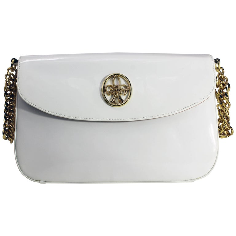 Italian Hand Evening Bag made of Leather and Brass