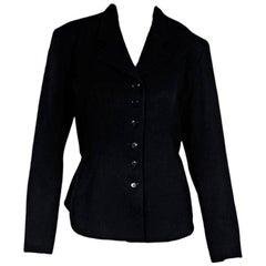 Black Alaia Corset-Back Blazer