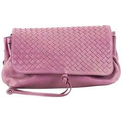 Bottega Veneta Accordion Flap Messenger Leather with Intrecciato Medium
