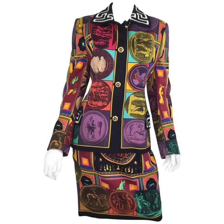 Gianni Versace Lifetime 1980s Skirt Suit Vintage