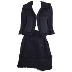 Valentino Silk Blend Skirt Suit