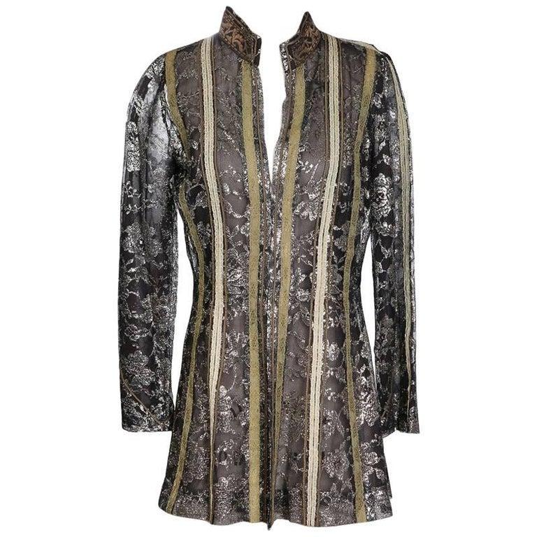 Thea Porter Metallic Lace Jacket circa 1960s