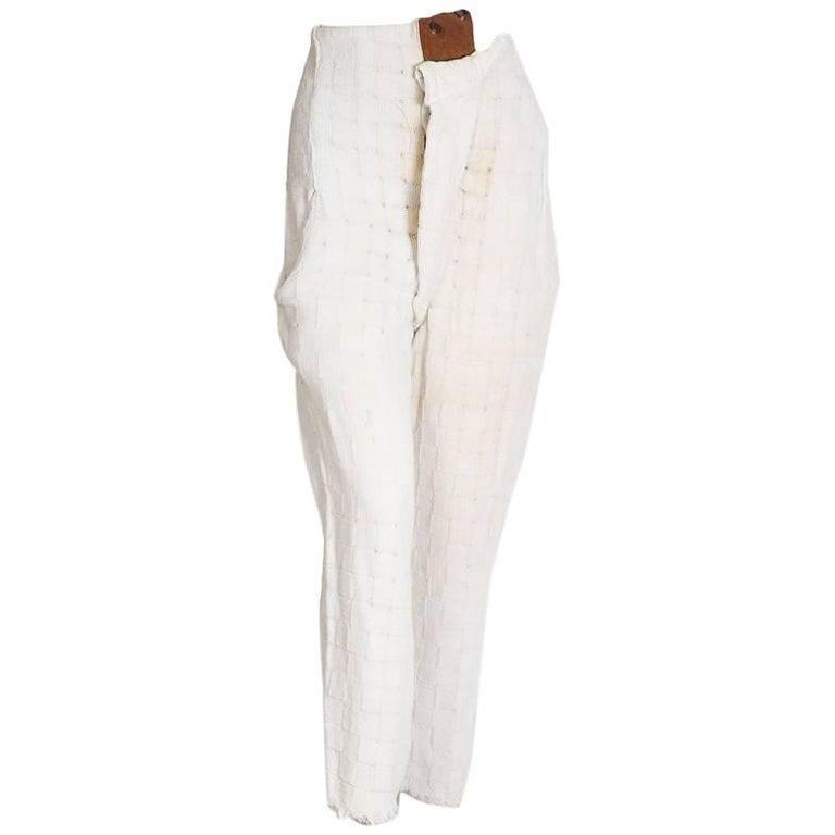 Vivienne Westwood World's End Checker Woven Cotton Pirate Pants, 1980s