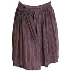 Vivienne Westwood World's End Striped Cotton Wide Leg Shorts, 1980s