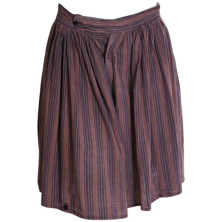 Vivienne Westwood World's End Striped Cotton Wide Leg Shorts, 1980s