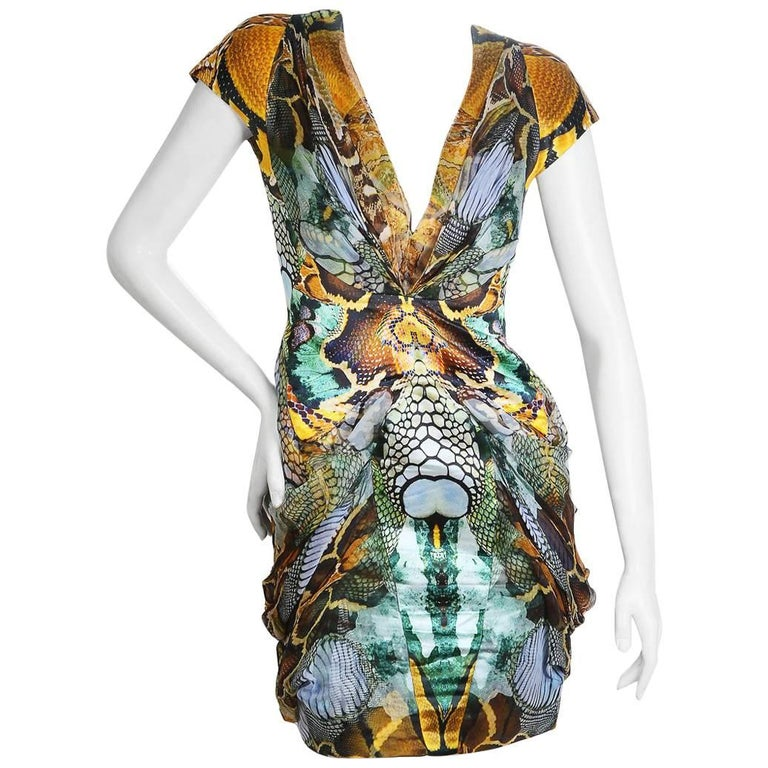 Insect-and-reptile-print dress from the