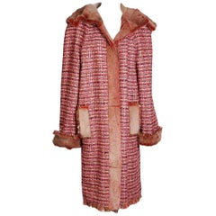 Chanel Pink Tweed and Fur Parka, Fall 2001