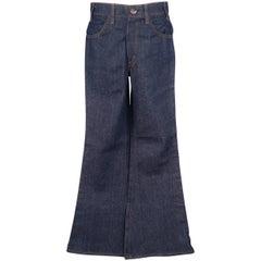 Men's LEVI'S VINTAGE Size 30 Indigo Contrast Stitch Denim Flaired Jeans