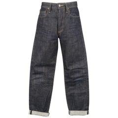 Men's 3SIXTEEN Size 30 Indigo Contrast Stitch Raw Selvedge Denim Jeans