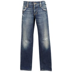 Men's DSQUARED2 Size 28 Indigo Dirty Washed Distressed Denim Jeans