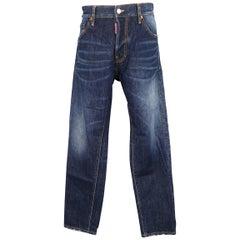 Men's DSQUARED2 Size 34 Indigo Washed Distressed Denim Jeans