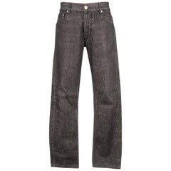 Men's JIL SANDER Size 32 Charcoal Raw Denim Tapered Jeans