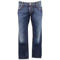 Men's DSQUARED2 Size 34 Washed Indigo Denim Jeans