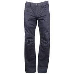 Men's GUCCI Size 34 Navy Denim Knee Pad Moto Biker Jeans
