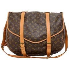 Vintage Louis Vuitton Saumur 43 XL Monogram Canvas Shoulder Bag