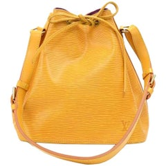 Vintage Louis Vuitton Petit Noe Yellow Epi Leather Shoulder Bag