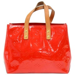 Louis Vuitton Reade PM Red Vernis Leather Hand Bag