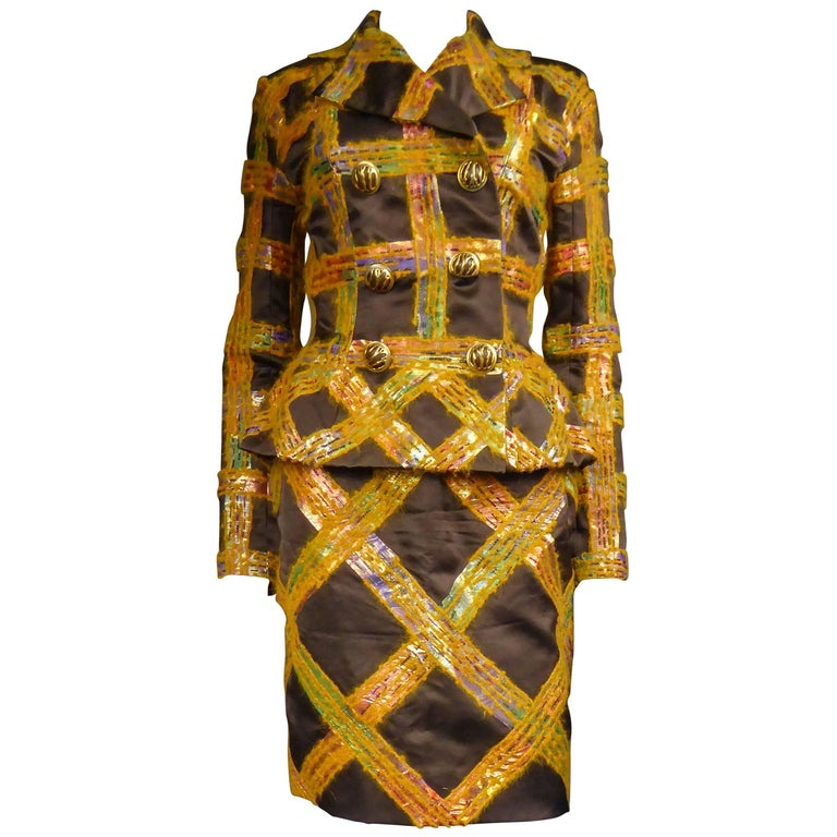 Ted Lapidus Haute Couture Skirt Set by Olivier Lapidus  Circa 1990 For Sale