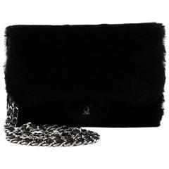 Chanel Classic Wallet On Chain Rabbit Fur