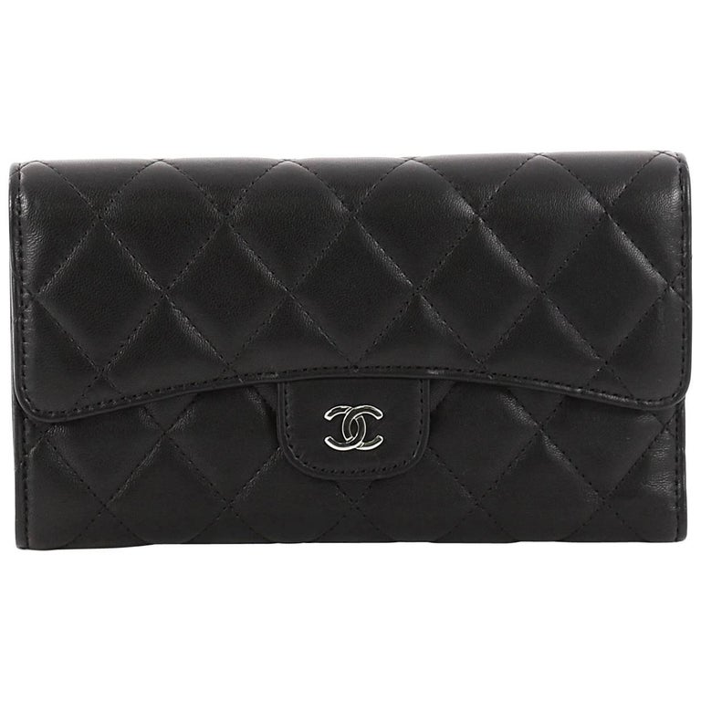 e81acf390f4f Chanel L Flap Wallet Quilted Lambskin Long at 1stdibs