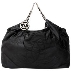 CHANEL Tote Bag in Black Duchess Satin