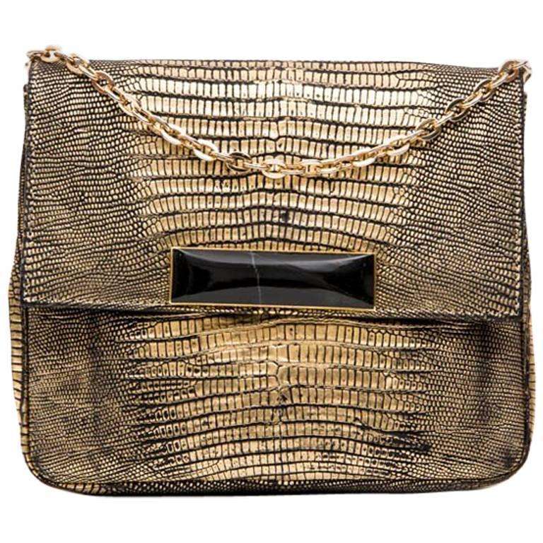 SANTESTEBAN Bag in Golden Lizard