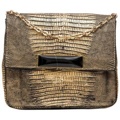 SANTESTEBAN Bag in Golden Lizard