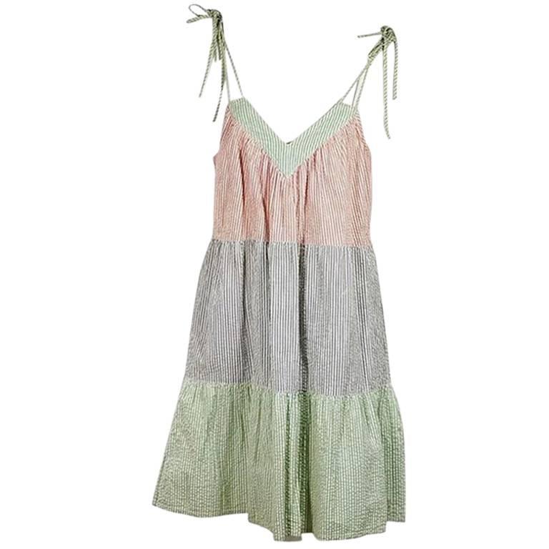 Multicolor Marc Jacobs Seersucker A-Line Dress