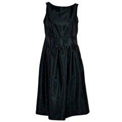 Emerald Green Burberry London Taffeta Dress