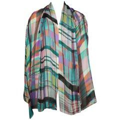 Shamask Multi Colored Silk Chiffon Top