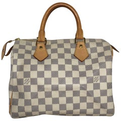 Louis Vuitton Damier Azur Speedy 25 Top Handle Bag