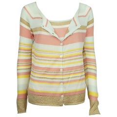 Valentino Multi Gold Metallic Sweater Set
