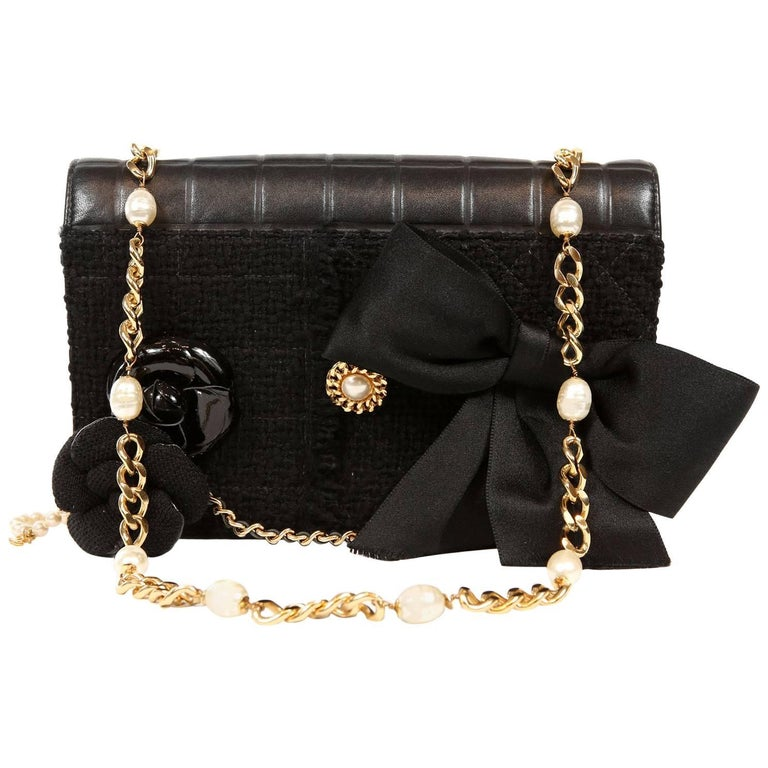 Chanel Black Buttons and Bows Special Edition Flap Bag