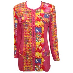 Carole Little Psychedelic Houndstooth Jacket