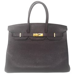 Hermes Birkin 35cm Dark Purple Bag