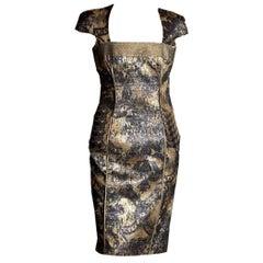 Badgley Mischka Couture Cocktailkleid Größe 4