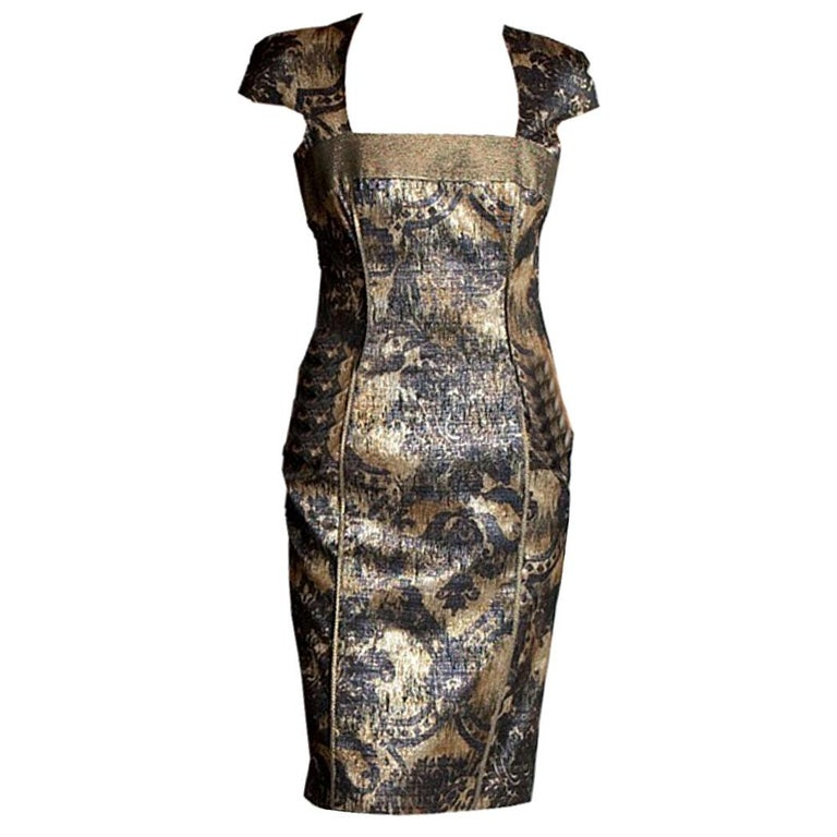 ff8a5f1c6169 New Badgley Mischka Couture Cocktail Dress Sz 4 For Sale at 1stdibs